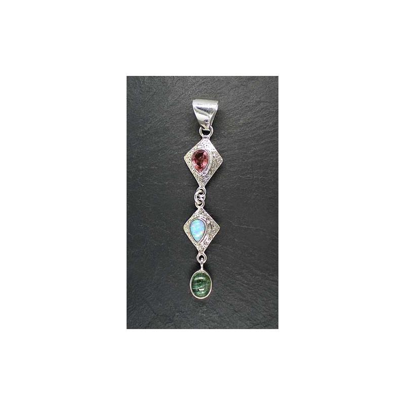 Turmalinanhänger mit Opal