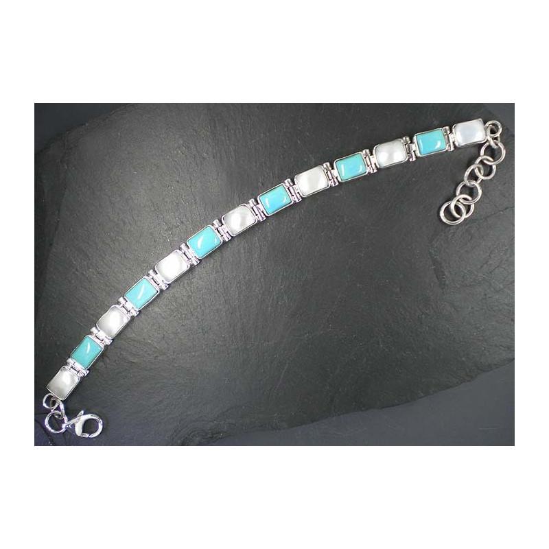 Türkis Armband mit Perle