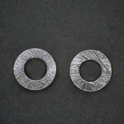 Silberohrstecker Ring