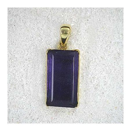 Fluoritanhänger violett vergoldet
