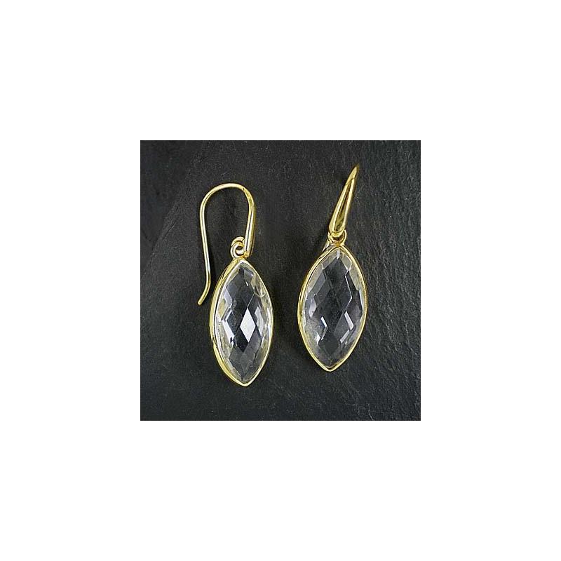 Bergkristall Ohrringe vergoldet