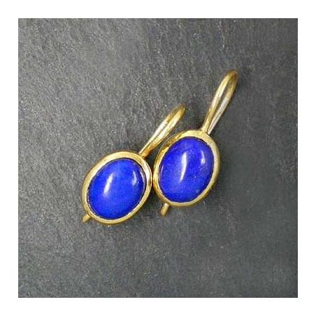 Lapis Lazuli Ohrringe vergoldet (SOk)