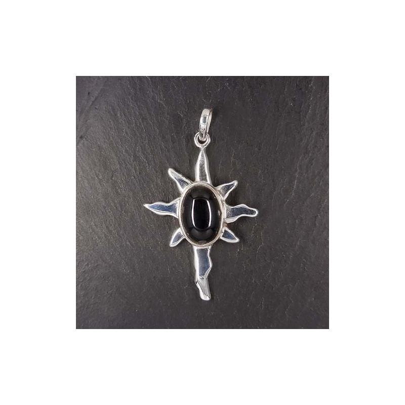 Anhänger mit Onyx (Sonne)