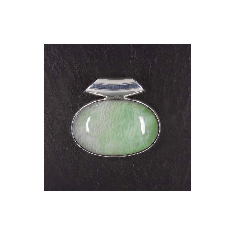 Anhänge mit grünem Mondstein