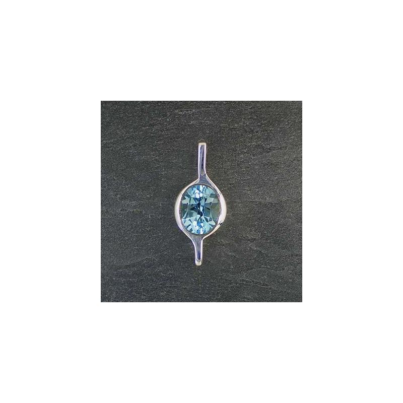 Blautopasanhänger oval