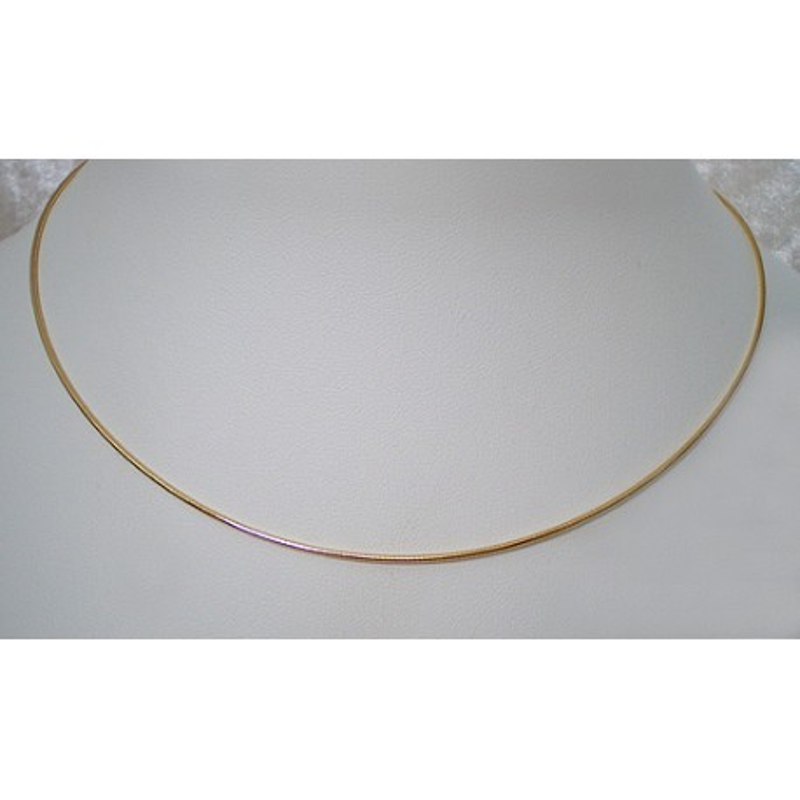 Halsreif vergoldet 1mm