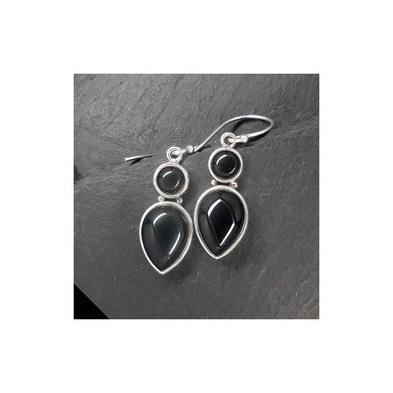 Ohrringe mit Onyx
