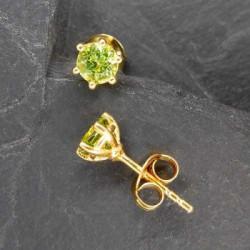 Peridot Ohrstecker vergoldet