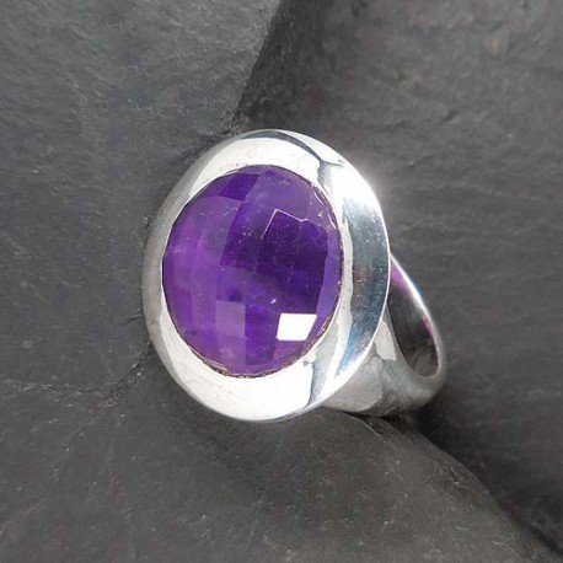 Amethyst Ring rund (TR fac)