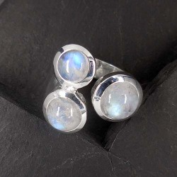 Mondstein Ring (3 Steine)
