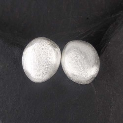Silberohrstecker oval