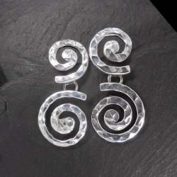 Silberohrringe Doppelspirale (TO)