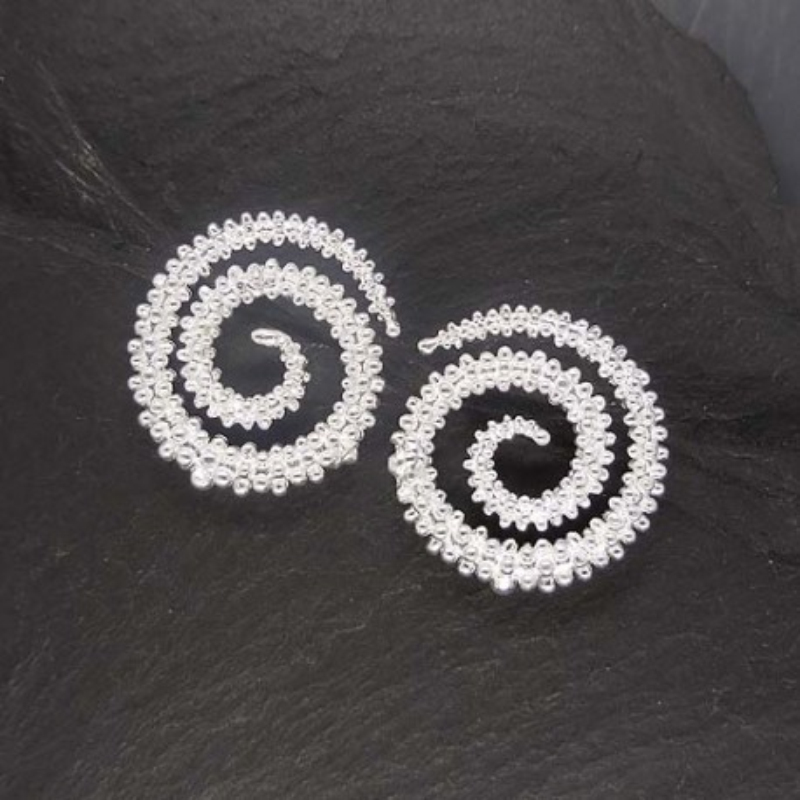 Silberohrstecker Spirale
