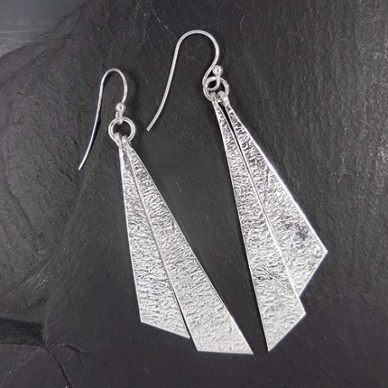 Silberohrringe Dreieck