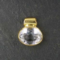 Anhänger mit Bergkristall, vergoldet