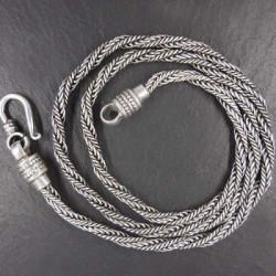 Silberkette geflochten