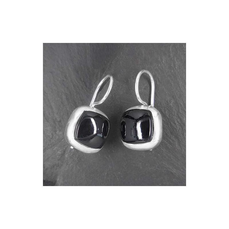 Ohrringe mit Onyx (TOe cab)