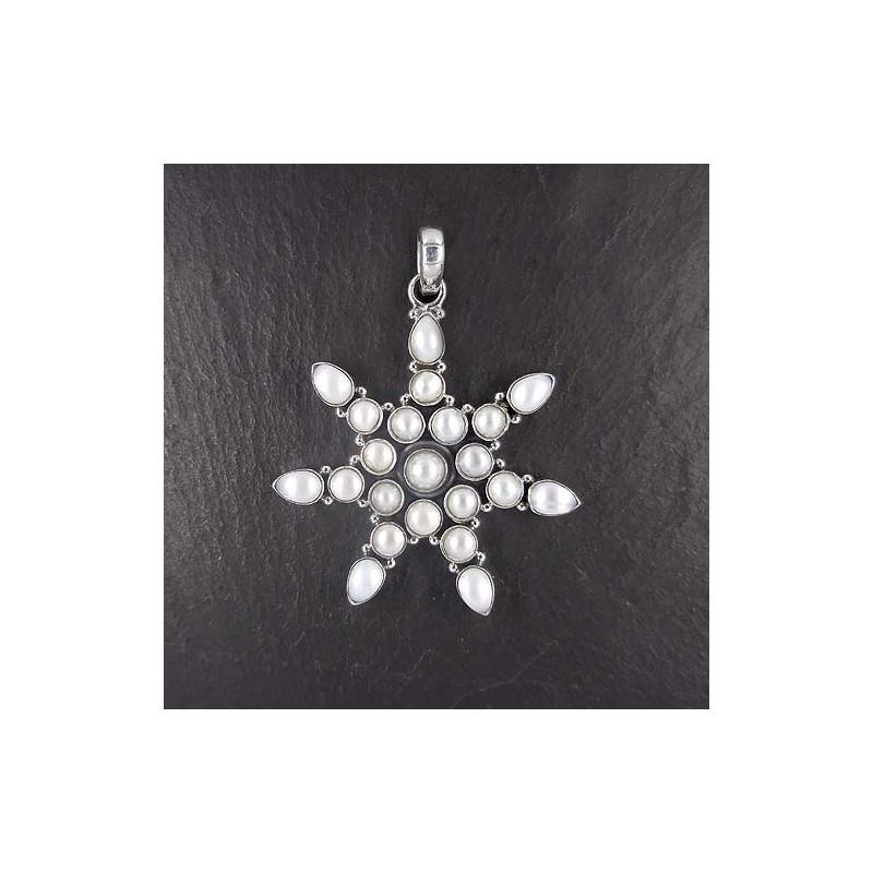 Süßwasserperlenanhänger Stern