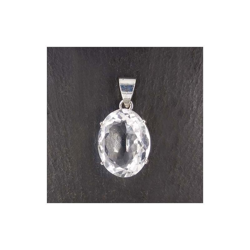 Bergkristallanhänger oval