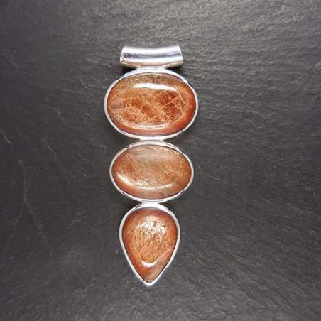 Sonnenstein Anhänger mit 3 Steinen