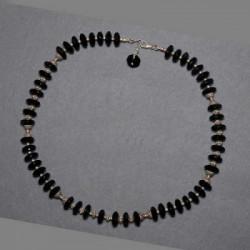 Onyxkette mit Silberperlen
