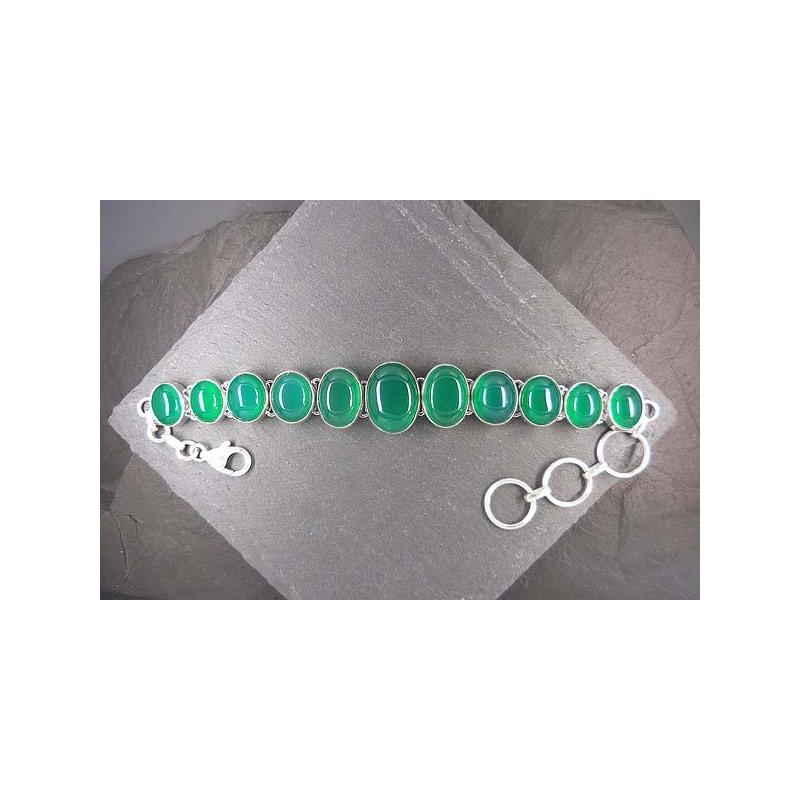 Armband mit grünem Achat