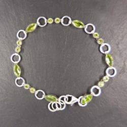 Armband mit Granat, Mondstein und Iolit