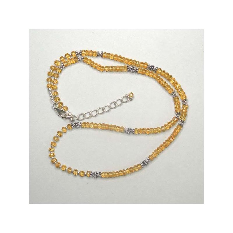 Citrinkette mit Silberperlen