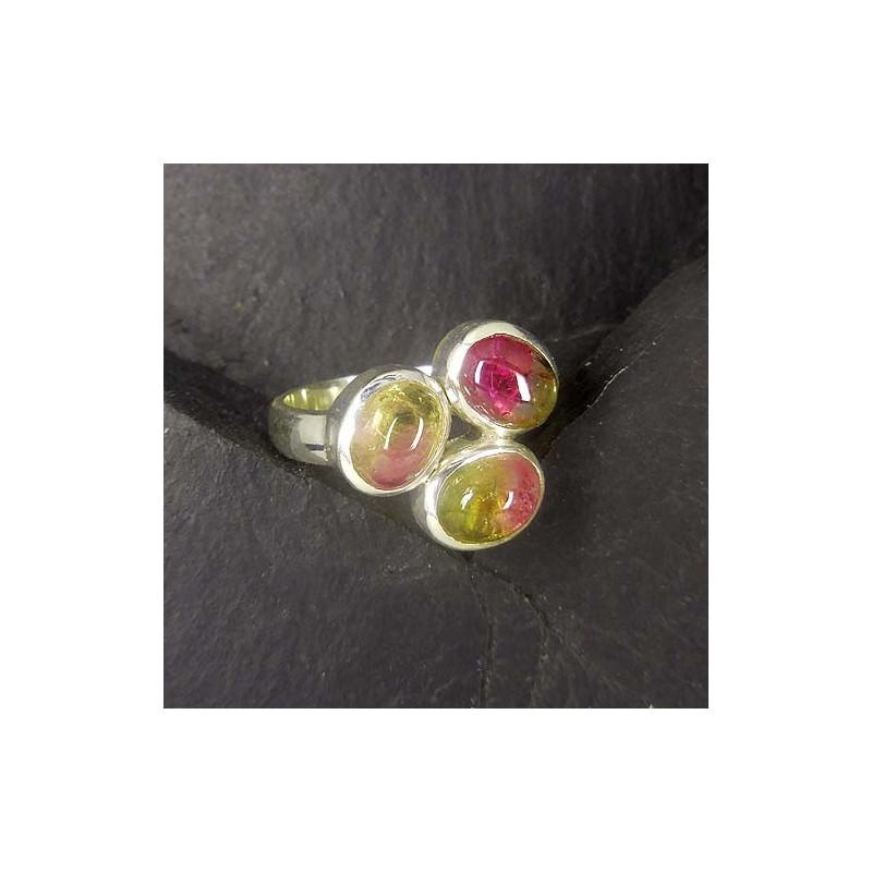 Turmalin Ring mit 3 Steinen