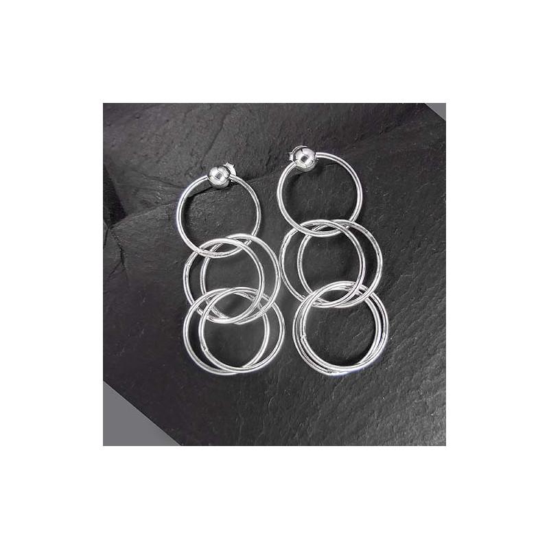 Silberohrringe Ringe Stecker