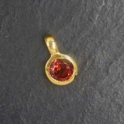 Granat Anhänger Mini vergoldet