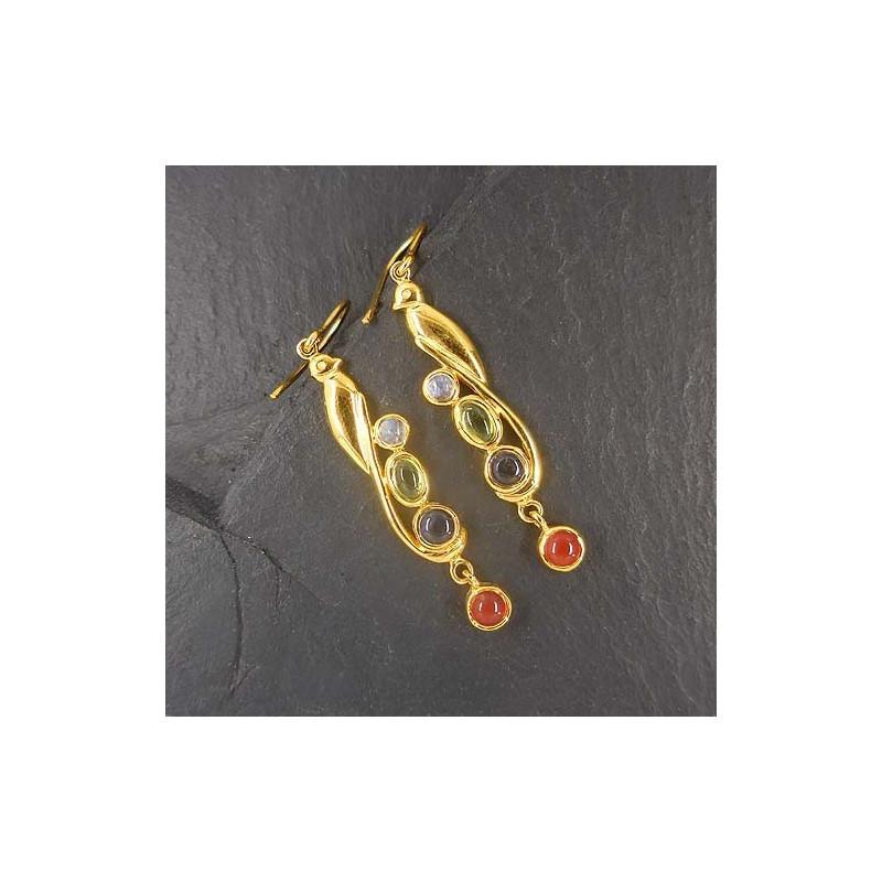 Ohrringe Multicolor vergoldet