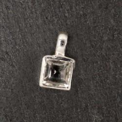 Bergkristall Anhänger eckig Mini