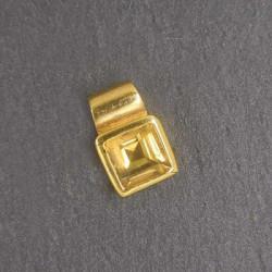 Citrin Anhänger eckig Mini vergoldet (S9)