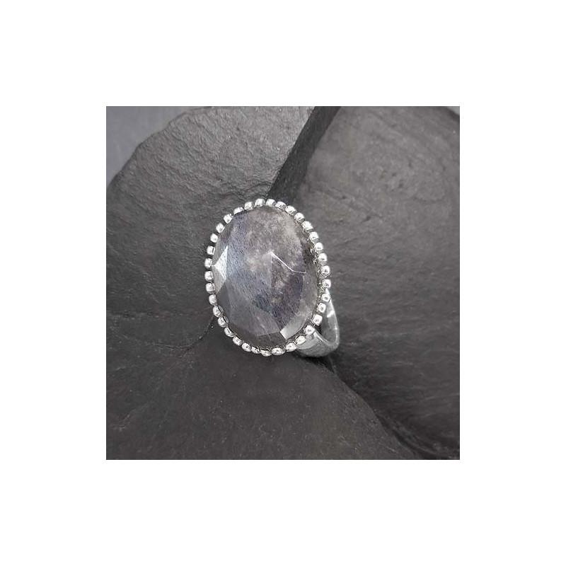Grauer Mondstein Ring