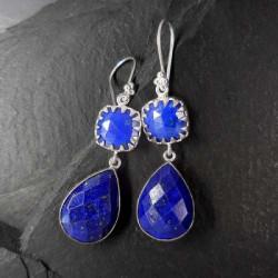 Lapis Lazuli Ohrringe lang