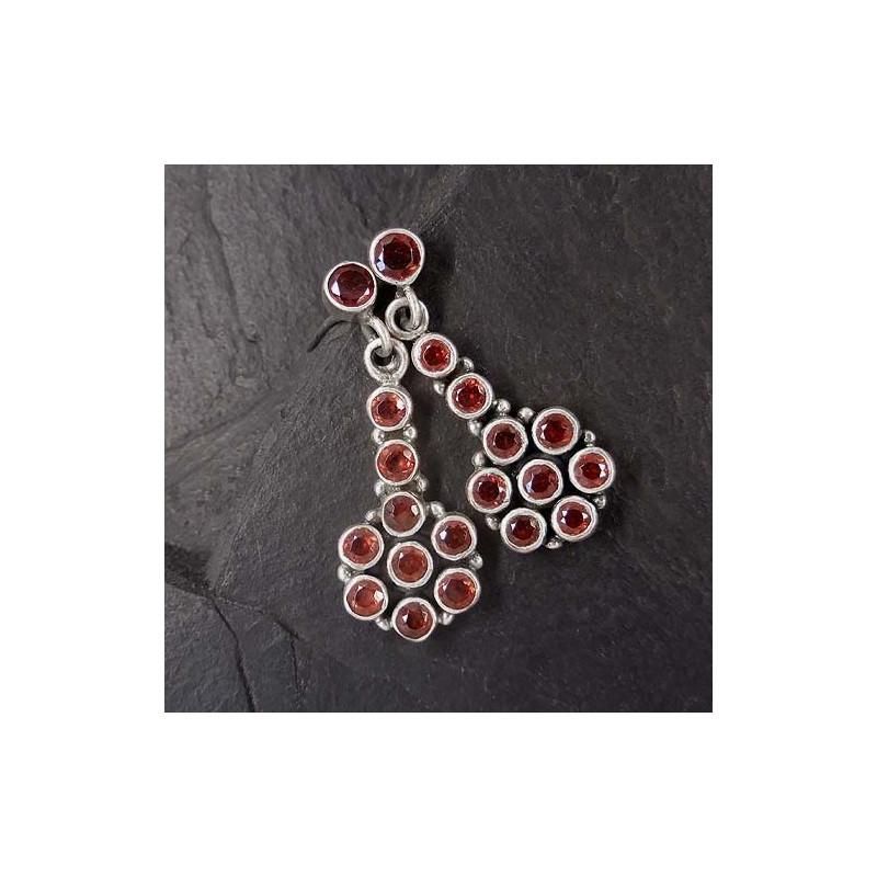 Granat Ohrringe mit Perle