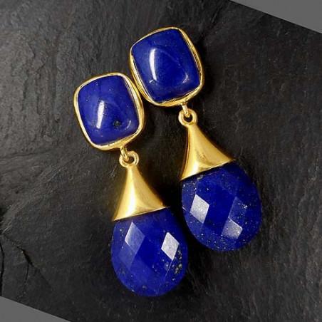 Lapis Lazuli Ohrringe vergoldet