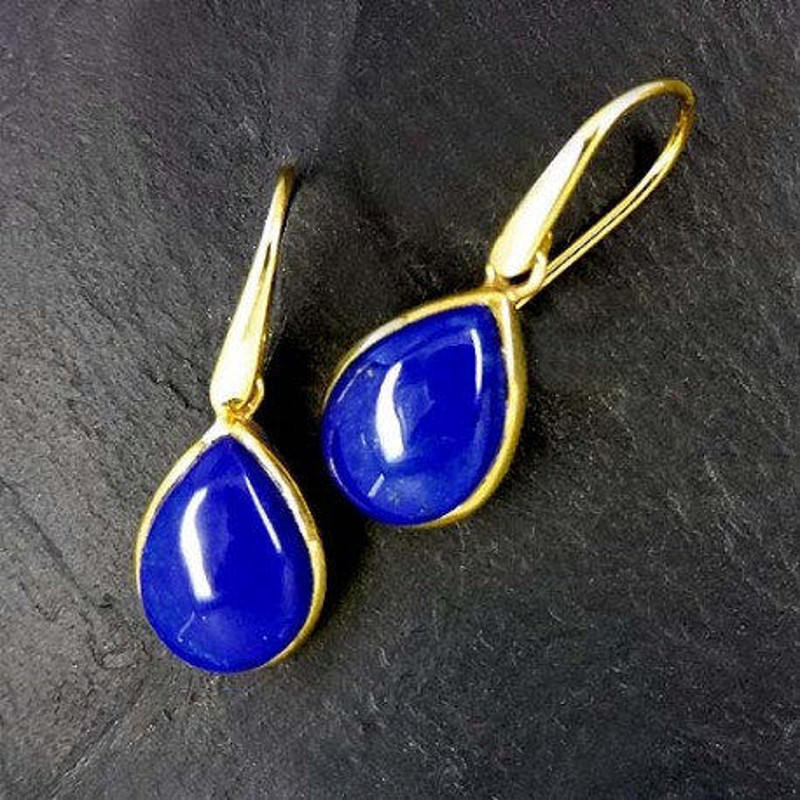 Lapis Lazuli Tropfen vergoldet