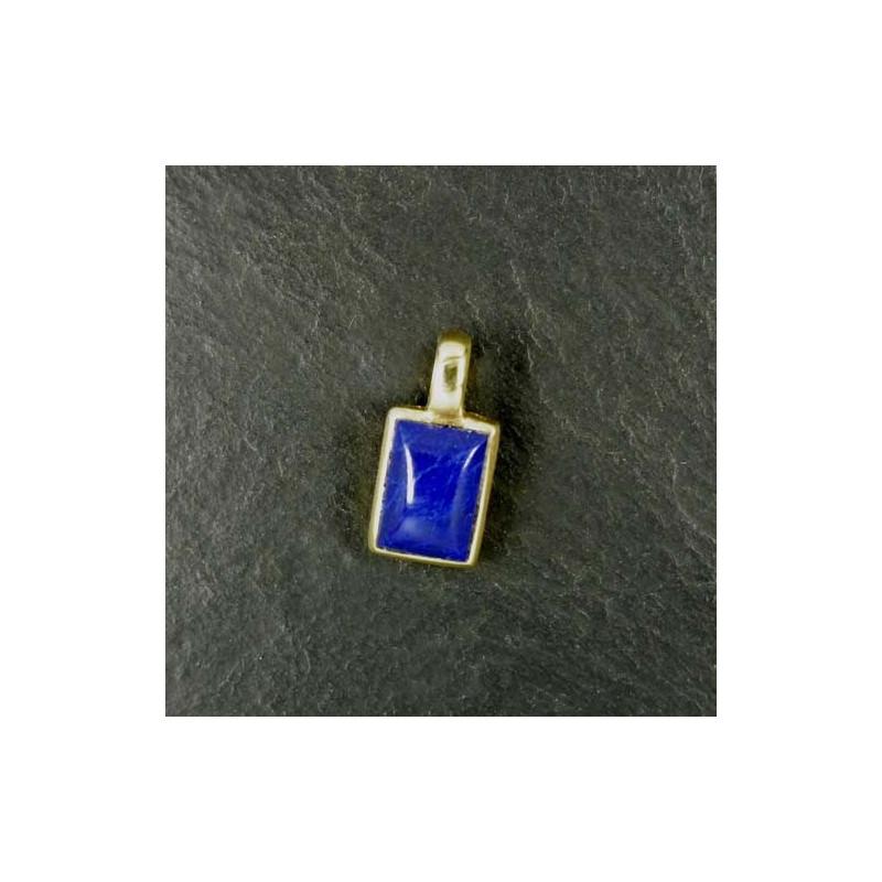 Lapis Lazuli Anhänger Eckig Mini Vergoldet