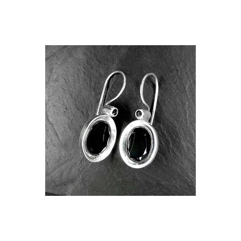 Onyx Ohrringe mit 2 Steinen