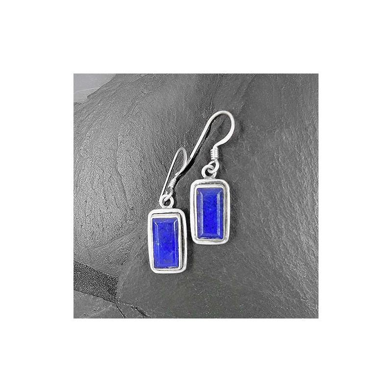 Lapis Lazuli Ohrringe Eckig
