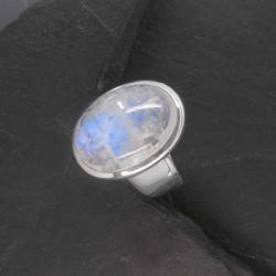 Ring mit Mondstein Oval