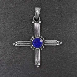 Lapis Lazuli Anhänger Kreuz