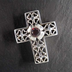 Granat Anhänger Kreuz