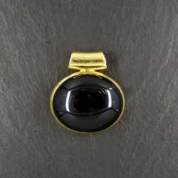 Onyx Anhänger oval (S9) vergoldet