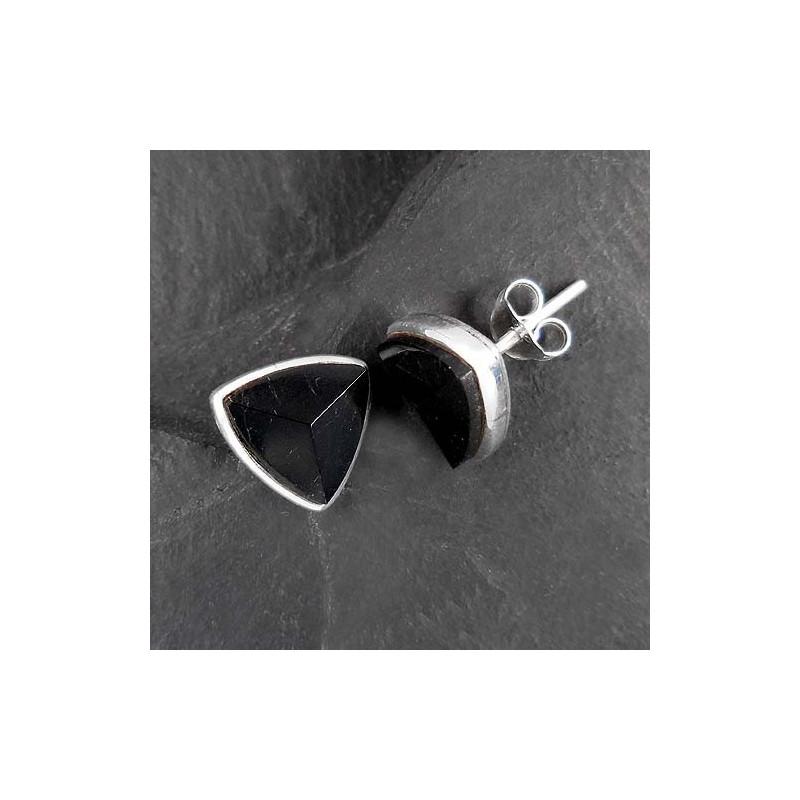 Schwarze Turmalin Ohrstecker (Schörl)