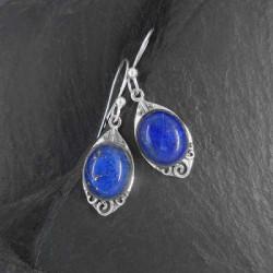 Lapis Lazuli Ohrringe Oval
