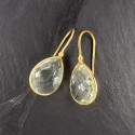 Ohrringe mit Prasiolith Vergoldet