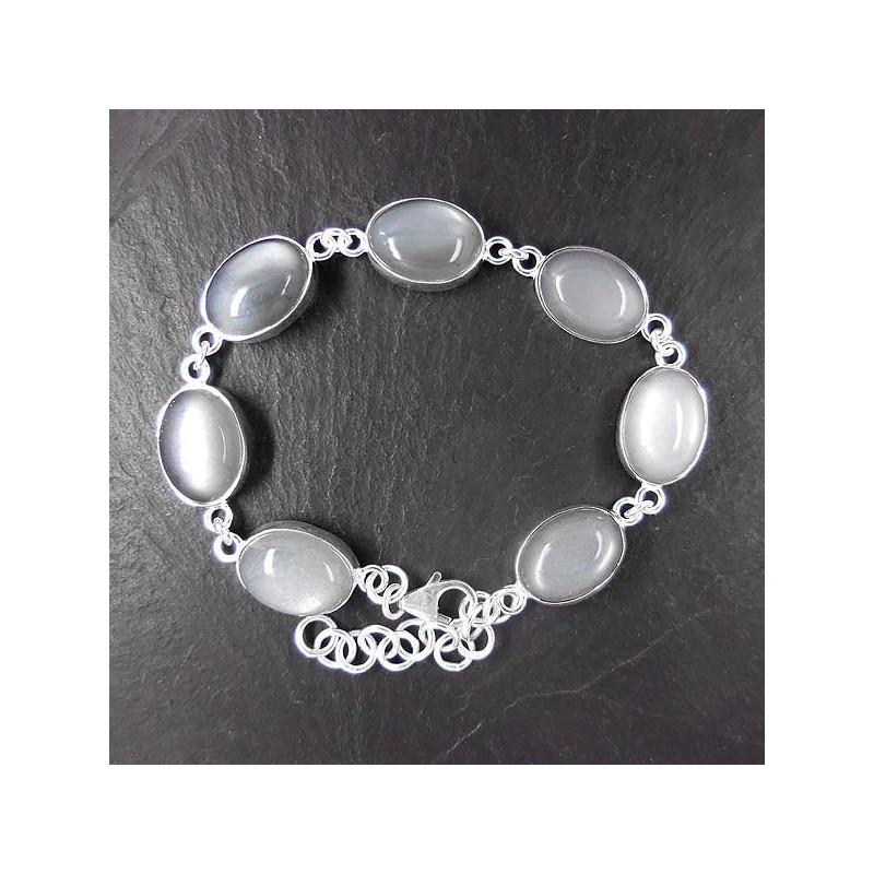 Armband mit Grauem Mondstein